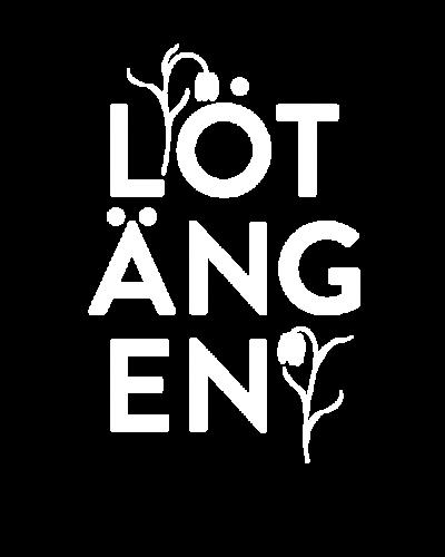 Lötängens logotyp som pryds av Upplands landskapsblomma Kungsängslilja