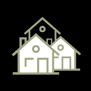 Ikon som symboliserar bostadskvarter